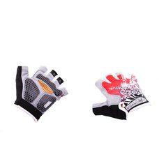 Купить Перчатки без пальцев   (mod:1, size:XL, гелевые подушки, красные)   HAND CREW в Интернет-Магазине LIMOTO