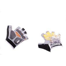 Купить Перчатки без пальцев   (mod:1, size:XL, гелевые подушки, желтые)   HAND CREW в Интернет-Магазине LIMOTO