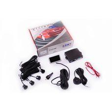 Парктроник   mod:PA102   (датчики черные 4шт, LCD, монтажный комплект)   THOR Купить в Интернет-Магазине LIMOTO