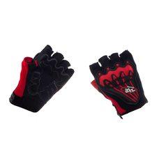 Велоперчатки (черно-красные, size L)   AXE
