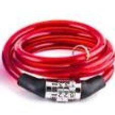 Купить Замок на колесо   (трос 950*8mm) (с кодом) (красный)   BDRK в Интернет-Магазине LIMOTO
