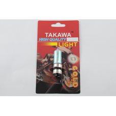 Купить Лампа P15D-25-3 (3 уса)   12V 35W/35W   (хамелеон радужный)   (блистер)   TAKAWA   (mod:A) в Интернет-Магазине LIMOTO