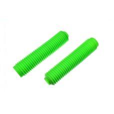 Купить Гофры передней вилки (пара)   универсальные   L-325mm, d-40mm, D-55mm   (зелёные)   MZK в Интернет-Магазине LIMOTO