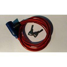 Купить Замок на колесо   (трос 600*10mm) (с ключом)   (красный)   YKX в Интернет-Магазине LIMOTO