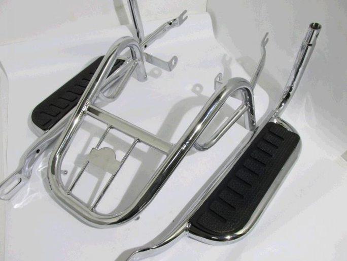 Купить Багажник задний металлический   Delta   (с подножками)   KOMATCU в Интернет-Магазине LIMOTO