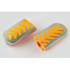 Купить Резинки подножек водителя   Delta   (желтые с хромированной вставкой mod:3)   XJB в Интернет-Магазине LIMOTO