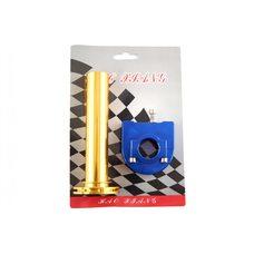 Купить Ручка газа короткоходная (тюнинг)   (желто-синяя)   RIDE IT в Интернет-Магазине LIMOTO