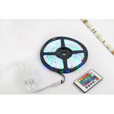 Купить Лента светодиодная SMD 5050   (RGB, влагостойкая, 60 крист/1м, бухта 5м)  (+ RGB-контроллер) в Интернет-Магазине LIMOTO