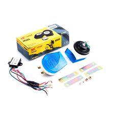 Купить Сигнал   (улитка) электрический двухтональный (синие-прозрачные) (пара)   JCAA в Интернет-Магазине LIMOTO