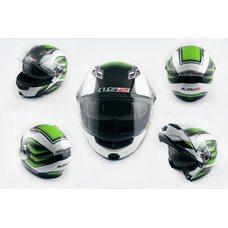 Купить Шлем трансформер   (size:XL, бело-зеленый, + солнцезащитные очки)   LS-2 в Интернет-Магазине LIMOTO