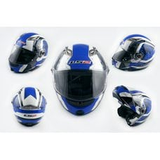 Купить Шлем трансформер   (size:XL, бело-синий, + солнцезащитные очки)   LS-2 в Интернет-Магазине LIMOTO