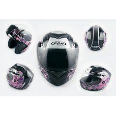 Купить Шлем трансформер   (mod:J) (size:XL, черный с узором, FLOWER)   FGN в Интернет-Магазине LIMOTO