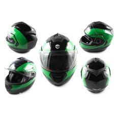 Купить Шлем трансформер   (mod:FL258) (size:L, черно-зеленый)   HELMO в Интернет-Магазине LIMOTO