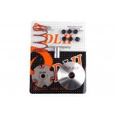 Купить Вариатор передний (тюнинг)   Suzuki LETS   (+палец, ролики 6шт, пружина торкдрайвера)   DLH в Интернет-Магазине LIMOTO