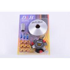 Купить Вариатор передний (тюнинг)   Honda DIO AF27   (ролики латунь 9шт, палец, пр. сцепления)   DLH в Интернет-Магазине LIMOTO