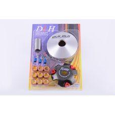Купить Вариатор передний (тюнинг)   Honda DIO AF34   (ролики латунь 9шт, палец, пружины сцепления)   DLH в Интернет-Магазине LIMOTO