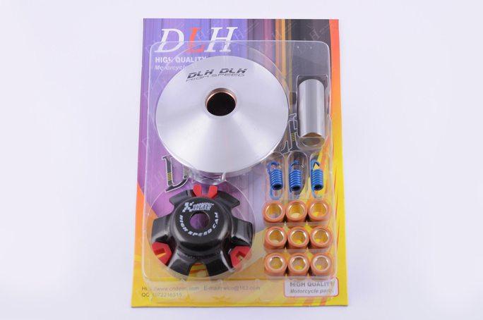 Вариатор передний (тюнинг)   4T GY6 125   (ролики латунь 9шт, палец, пружины сцепления)   DLH