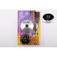 Купить Вариатор передний (тюнинг)   4T GY6 50 спорт   (Ø101mm, ролики латунь 9шт, палец Ø20mm, пружины сцепления)   DLH в Интернет-Магазине LIMOTO