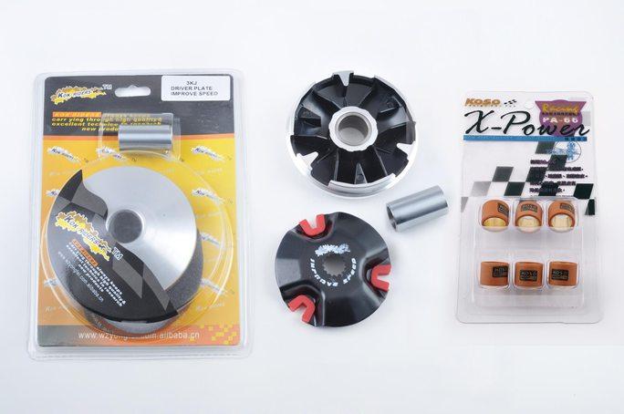 Вариатор передний (тюнинг)   Yamaha JOG 90, 2T Stels 50   (+палец, ролики 3,5г)   KOK RIDERS