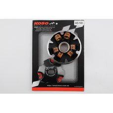 Купить Вариатор передний (тюнинг)   Suzuki AD100   (медно-граф. втулка, ролики латунь)   KOSO в Интернет-Магазине LIMOTO