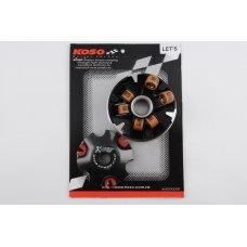 Купить Вариатор передний (тюнинг)   Suzuki LETS   (медно-граф. втулка, ролики латунь)   KOSO в Интернет-Магазине LIMOTO