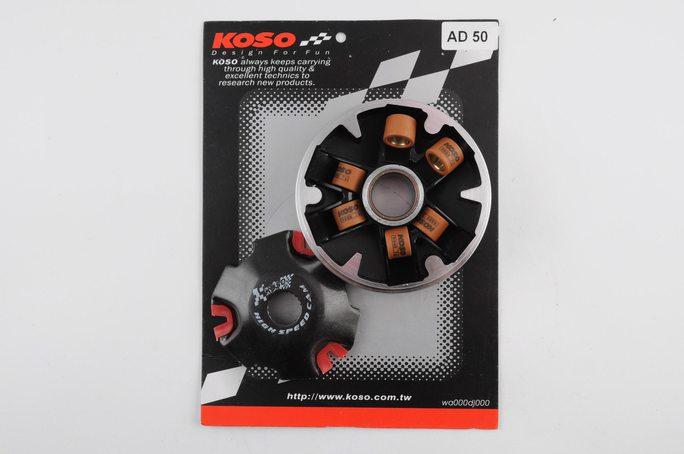 Вариатор передний (тюнинг)   Suzuki AD50   (медно-граф. втулка, ролики латунь)   KOSO