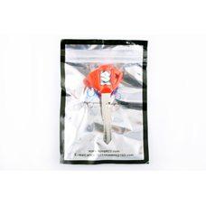 Купить Ключ замка зажигания (заготовка)   Suzuki   (с эмблемой, длинный, красный)   KOMATCU в Интернет-Магазине LIMOTO